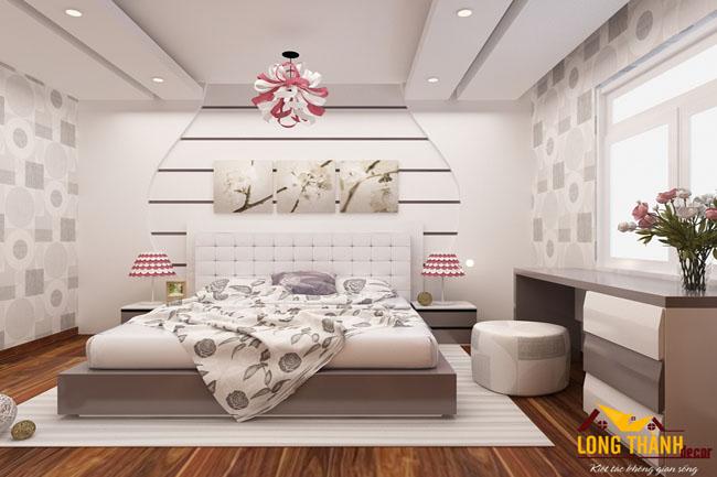 Phòng ngủ hiện đại đẹp và sang trọng nhà chị Hoa Cầu Giấy