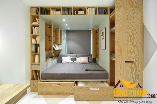 Phòng ngủ hiện đại, độc đáo với phong cách gỗ mộc