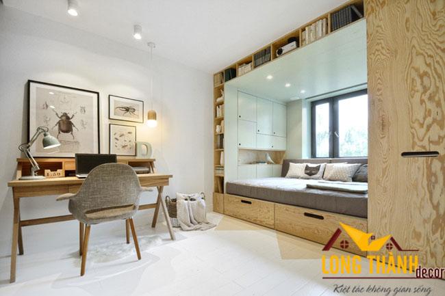 Phòng ngủ hiện đại, độc đáo dành cho người độc thân