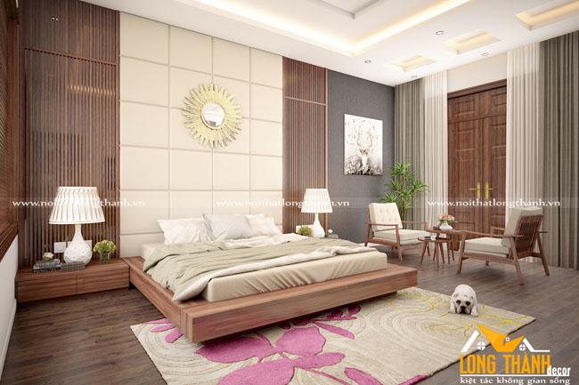 Phòng ngủ hiện đại gỗ tự nhiên Óc chó – không gian nghỉ ngơi lý tưởng dành cho những cặp vợ chồng trẻ