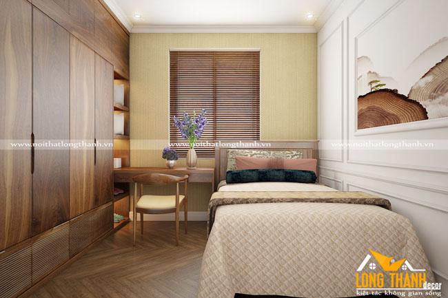 Phòng ngủ hiện đại với gỗ tự nhiên Óc chó