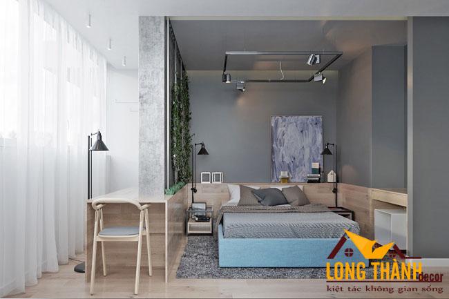 Phòng ngủ phong cách công nghiệp dành cho tuổi teen