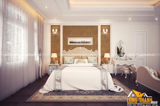 Phòng ngủ tân cổ điển cho nhà biệt thự rộng
