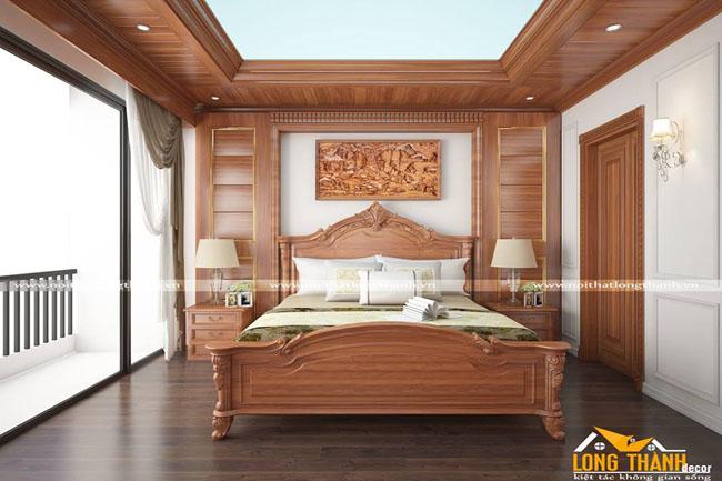Phòng ngủ tân cổ điển cho những tín đồ gỗ tự nhiên