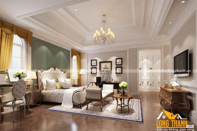 Phòng ngủ tân cổ điển đẹp cho nhà biệt thự