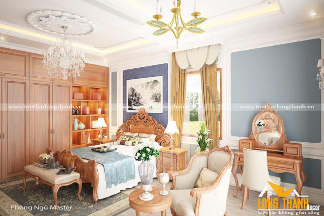 Mẫu phòng ngủ tân cổ điển gỗ Gõ tự nhiên