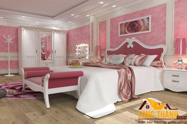 Mẫu phòng ngủ tân cổ điển nhẹ nhàng và nữ tính