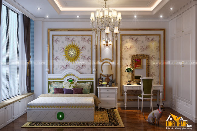 Phòng ngủ tân cổ điển sang trọng, đẳng cấp