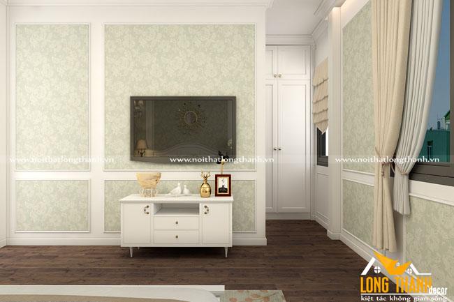 Phòng ngủ tân cổ điển với gam màu trắng tinh khôi – xu hướng lựa chọn của nhiều khách hàng trong năm 2018
