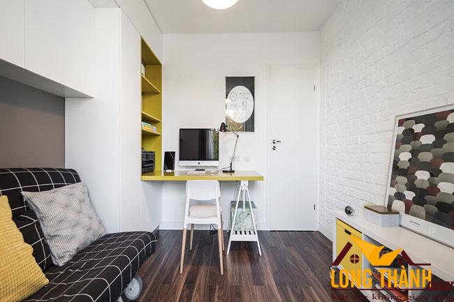 Thiết kế nội thất phòng ngủ thông minh dành cho người độc thân