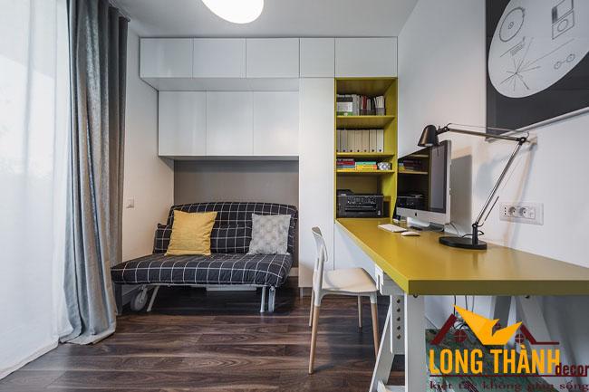 Phòng ngủ thông minh dành cho người độc thân