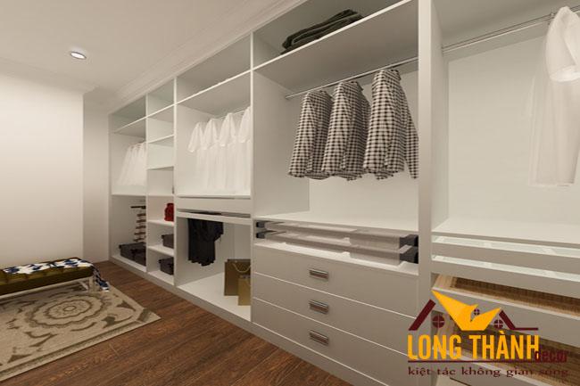 Thiết kế phòng thay đồ cho nhà biệt thự