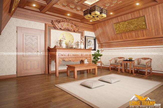 Phòng thờ đẹp phù hợp với phong tục tín ngưỡng và phong thủy phòng thờ cho nhà rộng
