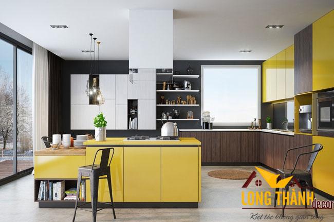 Rực rỡ sắc màu với tủ bếp Acrylic L19