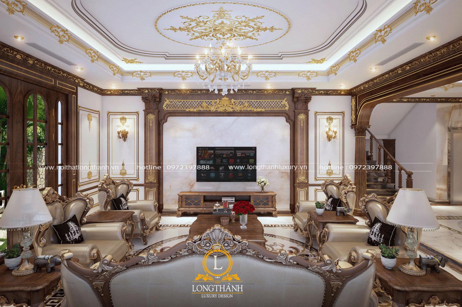 Mẫu sofa tân cổ điển làm cho căn phòng sang trọng hơn, đẳng cấp hơn
