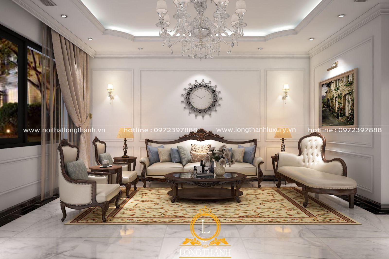Bộ Sofa tân cổ điển làm cho căn phòng khách thêm sang trọng