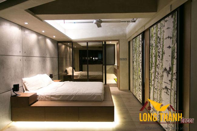 Sử dụng đèn chiếu sáng trong không gian phòng ngủ hiện đại