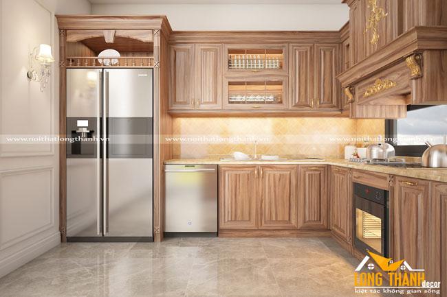 Tại sao tủ bếp tân cổ điển của Nội Thất Long Thành ngày càng được khách hàng ưa chuộng, lựa chọn