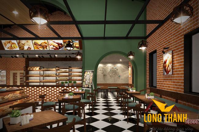Thiết kế nhà hàng bánh mì tại Hồ Đắc Di