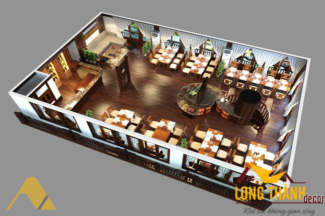 Thiết kế nhà hàng và tiêu chí trong thi công trang trí