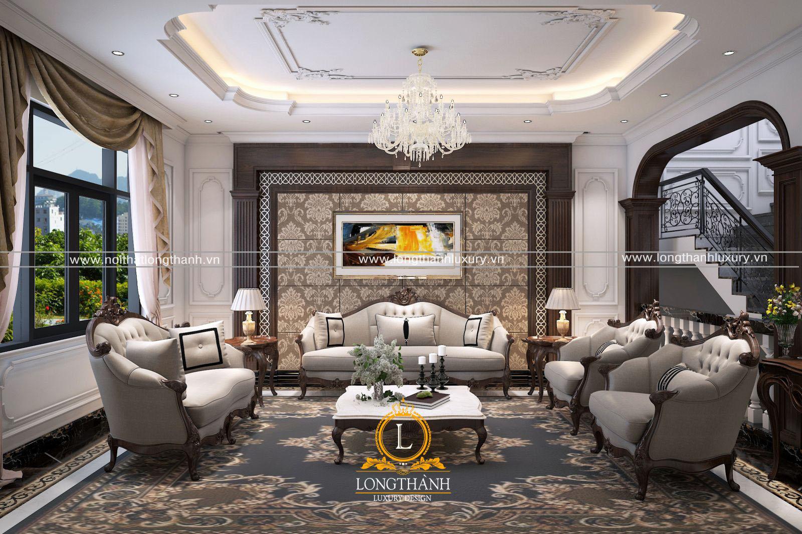 Lựa chọn chất liệu sofa tân cổ điển