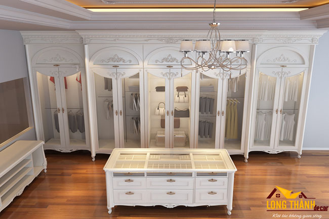Thiết kế nội thất biệt thự nhà chú Dũng Vincom Sài Đồng theo phong cách tân cổ điển