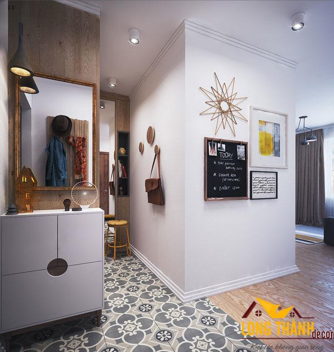 Thiết kế nội thất chung cư cao cấp bằng gỗ công nghiệp laminate