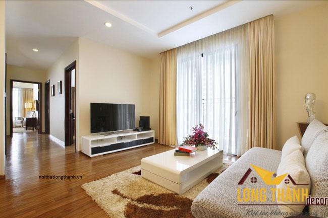 Thiết kế nội thất chung cư hiện đại nhà chị Hiền - Time City