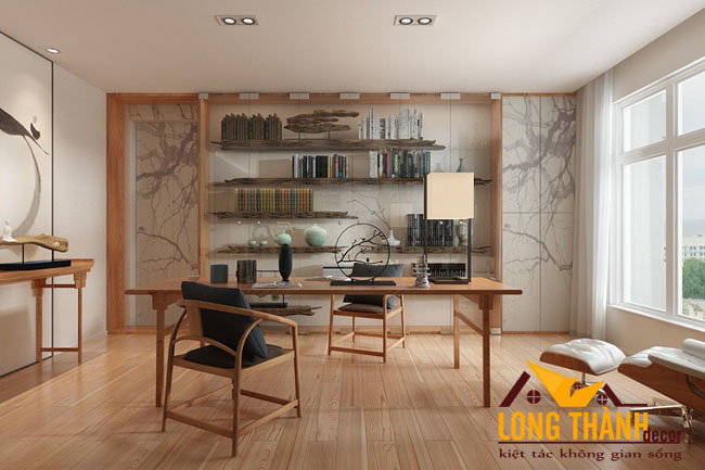 Thiết kế nội thất chung cư theo phong cách Trung Quốc hiện đại
