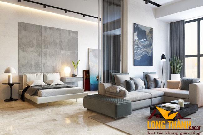 Thiết kế nội thất không gian mở kết hợp phòng khách và phòng ngủ