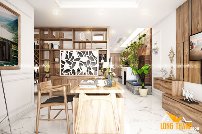 Mẫu thiết kế nội thất nhà chung cư với gỗ Cẩm tự nhiên