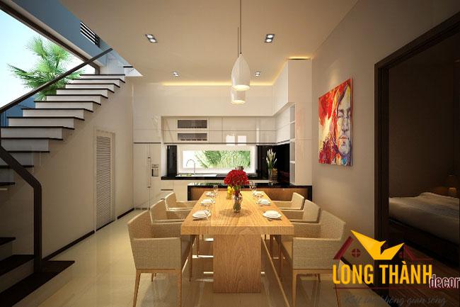 Thiết kế nội thất nhà phố nhà chị My – Minh Khai