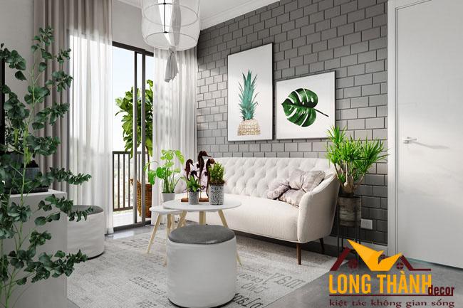 Thiết kế nội thất phòng khách chung cư theo phong cách Scandinavian