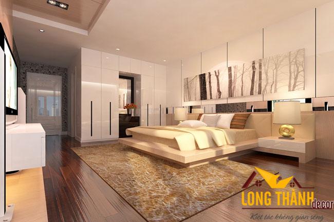 Thiết kế nội thất phòng ngủ hiện đại và hợp phong thủy