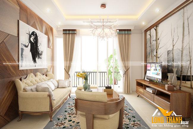 Thiết kế nội thất tân cổ điển đẹp cho nhà chung cư cao cấp