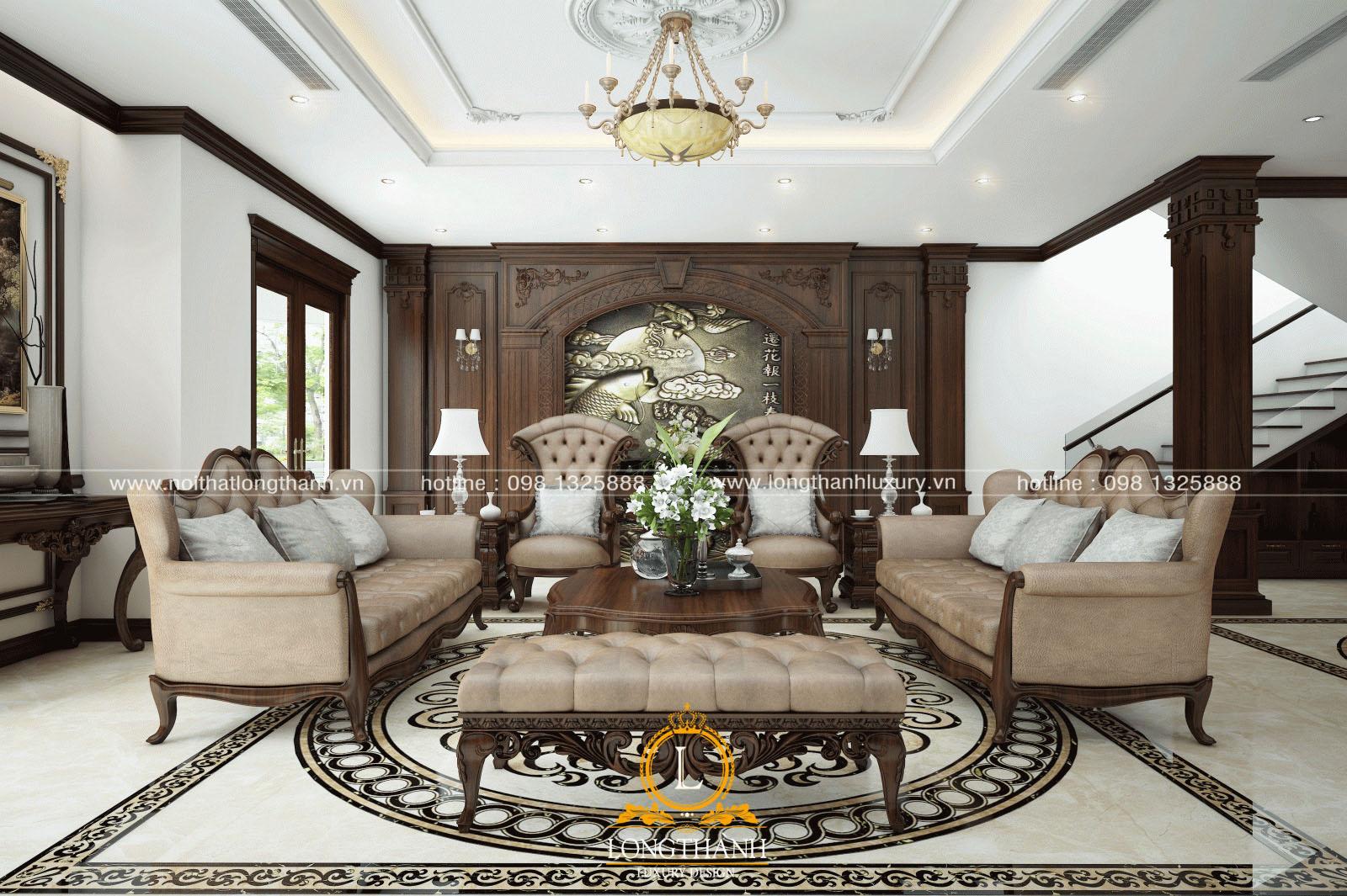 Mẫu sofa tân cổ điển đẹp LT05góc nhìn thứ 1