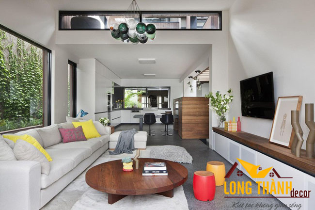 Thiết kế phòng khách dành cho biệt thự hiện đại LT09