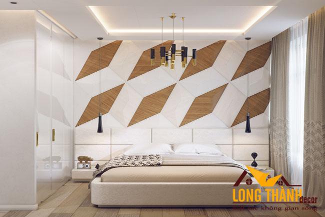 Thiết kế phòng ngủ đẹp với chất liệu gỗ Acrylic