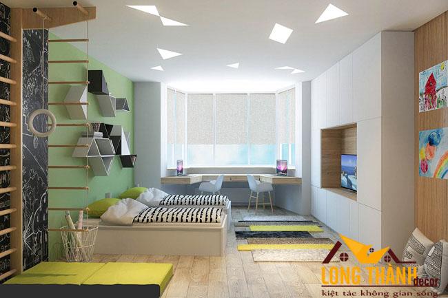 Thiết kế phòng ngủ đôi cho các bé