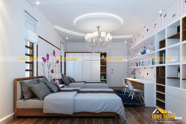 Thiết kế phòng ngủ đôi theo phong cách hiện đại