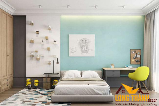 Thiết kế phòng ngủ hiện đại, đơn giản cho các bé