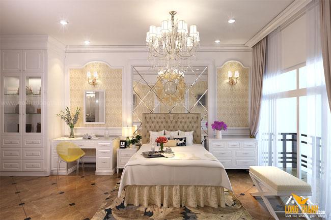 Thiết kế phòng ngủ tân cổ điển cho phòng con gái cô Dung 129 Hàng Bông