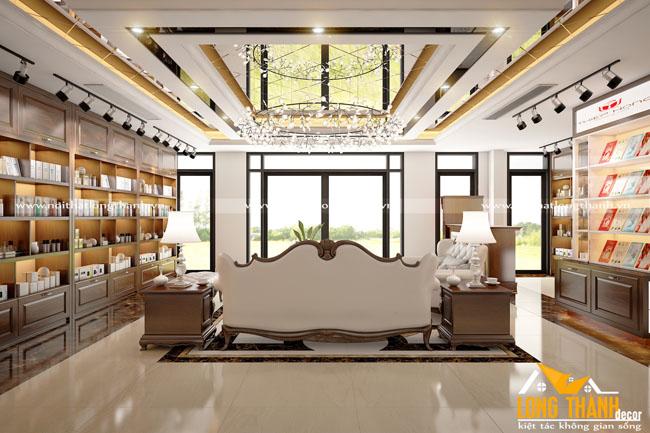 Thiết kế phòng trưng bày cho nhà biệt thự rộng