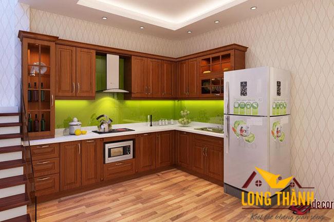 Tủ bếp gỗ Lát TL01