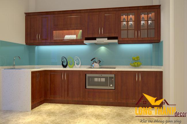 Tủ bếp gỗ Lát LT02