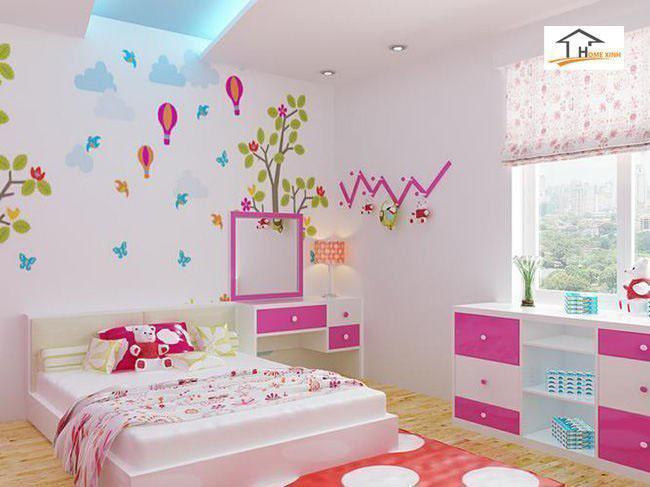 phụ kiện dán trên tường trang trí phòng ngủ