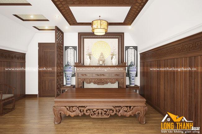 Trang trí phòng thờ thật trang trọng để thể hiện lòng tôn kính với tổ tiên