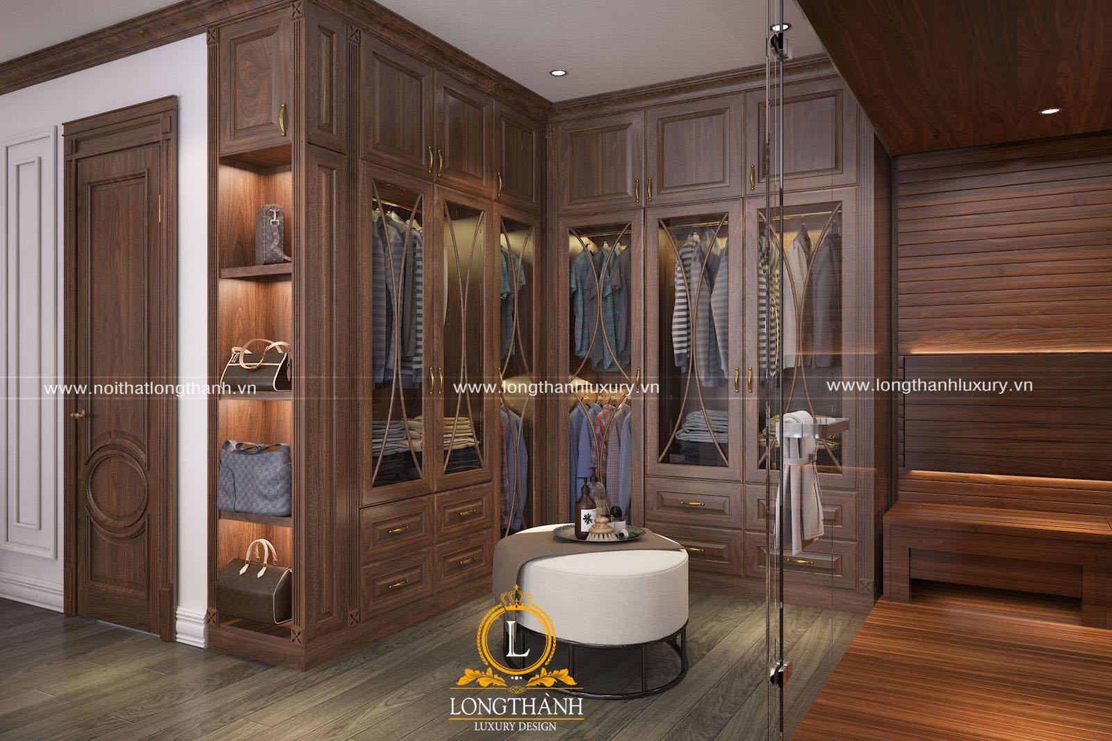Phòng ngủ tân cổ điển đẹp - Nội thất gỗ tự nhiên được ưu tiên hàng đầu