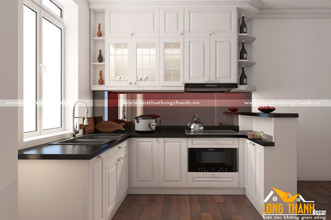 Mẫu thiết kế tủ bếp đẹp cho nhà chung cư LT01