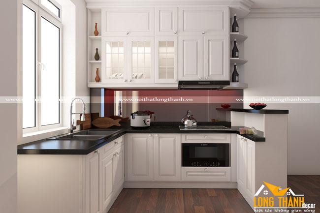 Tủ bếp đẹp cho nhà chung cư LT01